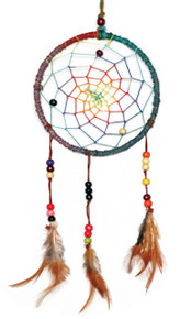 hemp dream catcher - 6 inch