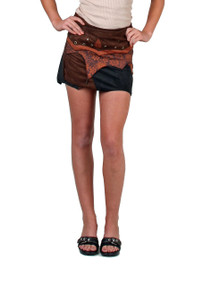 Awesome adjustable suede skirt with beautiful panals