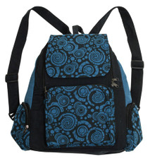 3 pocket sturdy back pack with cool Orbit Print