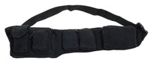 6 pocket Black adjustable pocket belt