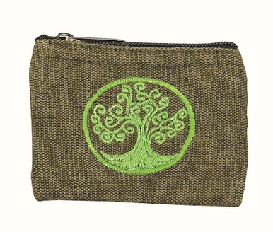 Tree in full blossom coin purse