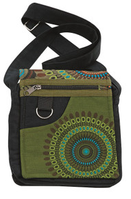 Cool 5 pocket purse with galaxy print - adjustable strap