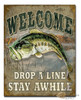Welcome Drop a Line Tin Sign