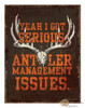 Antler Management Issues Tin Sign