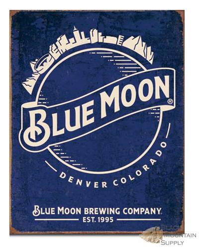 Tin sign blue moon brewing company for Blue moon fish company menu