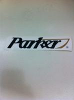 """PARKER SPORT CABIN LOGO **** 9""""L X 2""""H"""