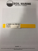 "3/4"" GRAPHIC / HULL STRIPE TAPE YELLOW U13682-03"