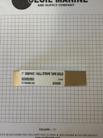 "1""  GRAPHIC / HULL STRIPE TAPE GOLD U19088-02"