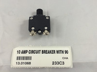 10 AMP CIRCUIT BREAKER WITH 90 DEGREE TERMINALS