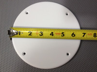 COVER PLATE 6 1/2 INCH WHITE