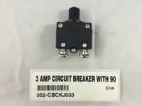3 AMP CIRCUIT BREAKER WITH 90 DEGREE TERMINALS