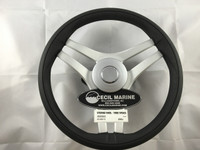 STEERING WHEEL BLACK - THREE SPOKES - MODEL 832 - 43.00115 ** IN STOCK & READY TO SHIP! **