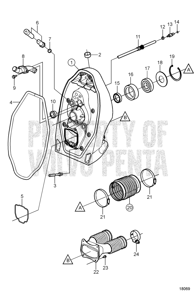 gimbal bearing for xdp drives 184860