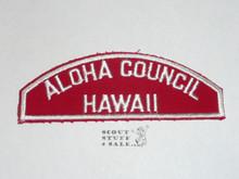 Aloha Council Red/White Council Shoulder Patch - Boy Scout