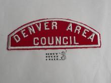Denver Area Council Red/White Council Strip - Scout