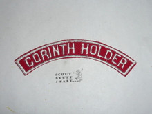 CORINTH HOLDER Red/White Boy Scout Community Strip
