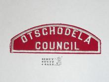 Otschodela Council Red/White Council Shoulder Patch - Boy Scout
