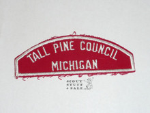 Tall Pine Council Red/White Council Shoulder Patch - Boy Scout