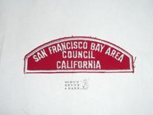 SAN FRANCISCO BAY AREA COUNCIL Red/White Boy Scout Council Strip