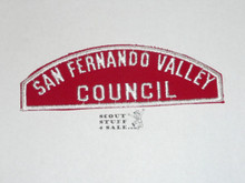 San Fernando Valley Council Red/White Council Shoulder Patch - Boy Scout