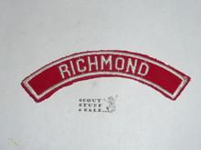 RICHMOND Red/White Boy Scout Community Strip