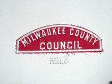 MILWAUKEE COUNTY COUNCIL Red/White Boy Scout Council Strip