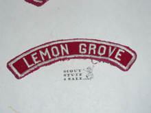 LEMON GROVE Red/White Boy Scout Community Strip, used