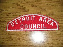 Detroit Area Council Red/White Council Strip - Scout