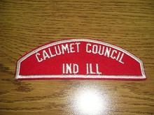 Calumet Council Red/White Council Strip - Scout