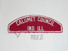 Calumet Council Red/White Council Shoulder Patch, lt. use
