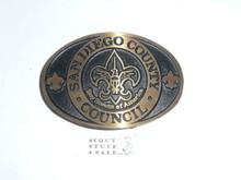 San Diego County Boy Scout Council Cast Bronze Belt Buckle