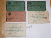 1935-1940 Official Girl Scout Membership Cards