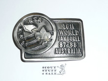 1987-1988 Boy Scout World Jamboree USA Contingent Belt Buckle