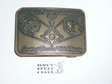 1981 National Jamboree Belt Buckle, East Central Region