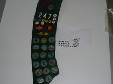 1960's Girl Scout Sash with many patches