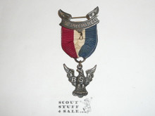 Eagle Scout Medal, Robbins 1A, 1920-1925, Closed Beak, early issue with large oversized clasp