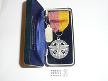 Explorer Silver Award Medal, Type 1, 1940's, MINT in original Box with hang tag, STERLING Silver with Robbins Hallmark, You will NEVER find a better example