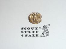 "Girl Scout Golden Eaglet Award Pin, Samll Size 1/2"" x 1/2"", short lived program, 1920's issue, 10k GOLD hallmark, VERY RARE"