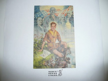 1937 National Jamboree Christy Painting Postcard