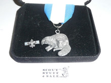 Silver Beaver Award, 1990's, In Box with Lapel Pin