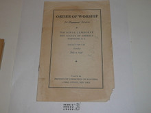 Protestant, Order of Worship for Protestant Services at the 1937 National Jamboree, used