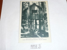 Girl Scout Post card, Camp Kilowan Tree House, Artvue, 1940's-60's