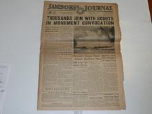 "1937 National Jamboree ""Jamboree Journal"" Newspaper for July 5 (Monday)"