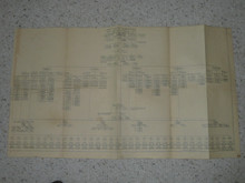 1935 National Jamboree Organization Chart For the Entire Jamboree With Some Names Written in, Appears to be National's Working Copy