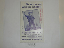 1937 National Jamboree Points of Interest Pamphlet By Baltimore and Ohio Railroad