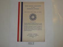 1937 National Jamboree Grand National Convocation Program