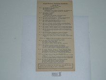 1937 National Jamboree Grand Review Order of Cars