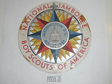 1935 National Jamboree 6 inch Logo on Cardstock, Has Been Pinned and has a Few Tapemarks