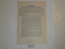 1935 National Jamboree Tentative National Jamboree Program Brochure