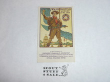 1935 National Jamboree Gummed Seal with Norman Rockwell Picture
